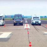 Comparativa de distancia de frenado entre caravanas, autocaravanas y campers